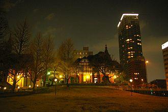 Meiji Gakuin University - The school at nighttime