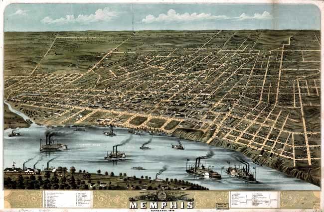 Memphis airview 1870