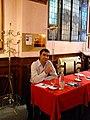 Menotti Lerro at the Giubbe Rosse's literary café, Florence 2011..JPG