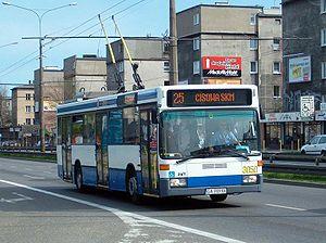 Trolleybuses in Gdynia - A Mercedes-Benz O405 trolleybus in Gdynia