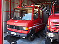 Mercedes 7110 fire engine of the Fire sub-station of Apollonia, Pyrosvestiko klimakio Apollonion, pic2.JPG