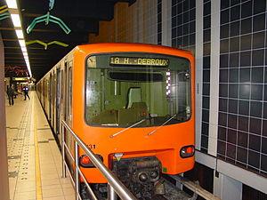 King Baudouin metro station - Image: Metro Station Koning Boudewijn