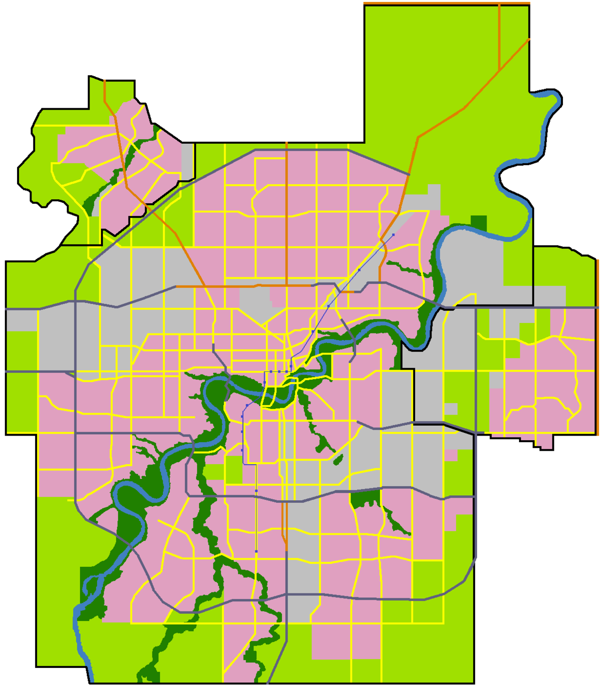 Edmonton City Limits Map