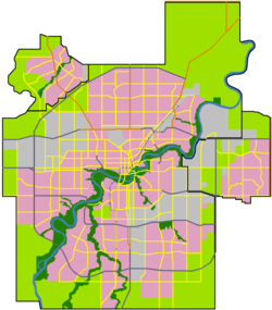 Central core is located in Edmonton