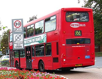 Metrobus (South East England) - Scania N94UD OmniDekka double-decker, in Orpington, operating London Buses route 353 en route to Addington