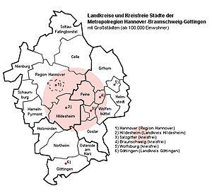 Hannover–Braunschweig–Göttingen–Wolfsburg Metropolitan Region - Image: Metropolregionhabsgö