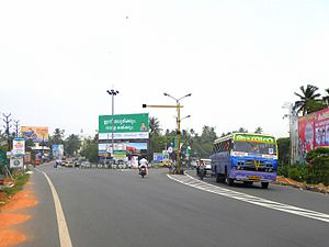 Mevaram - Kollam Bypass at Mevaram