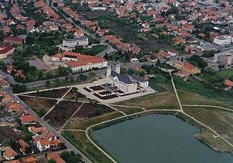 Mezőkövesd - Image: Mezőkövesd légifotó2
