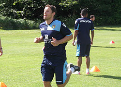 Brown in training with Leeds United