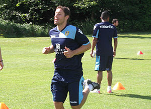 Michael Brown (footballer, born 1977) - Brown training with Leeds United in 2011
