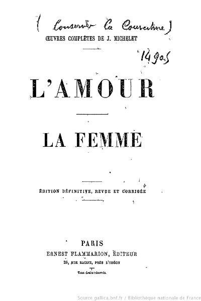 File:Michelet - OC, L'Amour, La Femme.djvu