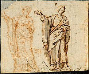 Two designs for the statue of John the Evangelist on the calvary of St. Paul's Church in Antwerp