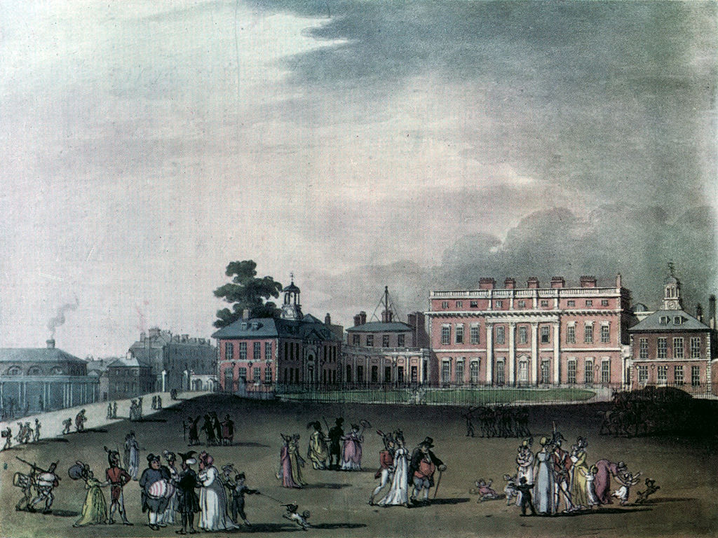 Microcosm of London Plate 065 - Queen's Palace, St James's Park (colour).jpg