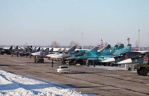 Lipetsk (air base) - Su-25SM, MiG-29UB, Su-24M2, Su-34