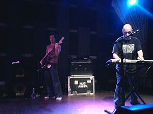 Dan Stevens (musician) - Stevens (left) performs with Dead Milkmen band mate Rodney Linderman in 2010