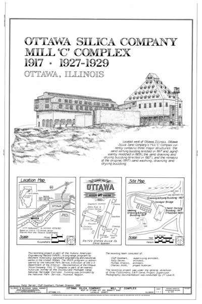 "File:Mill ""C"" Complex, South of Dee Bennet Road, near Illinois River, Ottawa, La Salle County, IL HAER ILL, 50-OTWA. v, 1- (sheet 1 of 1).tif"