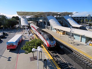 Bay Area Rapid Transit (BART) and Caltrain station in Millbrae, California