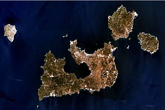 Milos - The approximate location of the ancient Dorian city, prior to the siege of 416 BC.