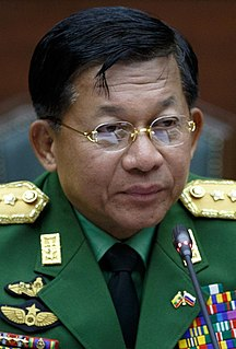 Min Aung Hlaing Burmese army general and de facto leader of Myanmar