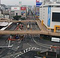 Minamimachi-dori avenue viewed from the roof top car parks of Sendai station.JPG