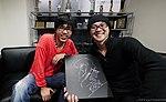 Mitsuhisa Ishikawa and Danny Choo at Production I.G headquarters 20101016.jpg