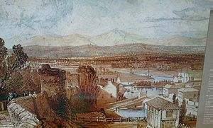 Morgan's Mount - A painting of what Morgan's view was like