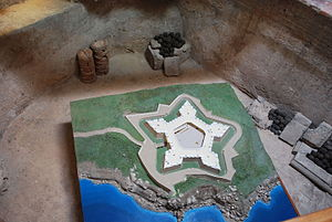 Fort of San Diego - Model of the Fort of San Diego showing its layout