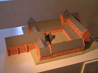 Altzella Abbey - Model of the abbey church, the conventual buildings and the lay brothers' building as built c. 1175–1230