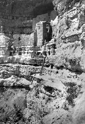 Montezuma Castle National Monument - Montezuma's Castle near Camp Verde, Arizona, ca.1893-1900