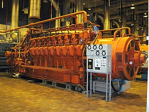 Internal combustion engine - Big Diesel generator used for backup power