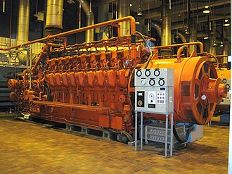 American Locomotive Company - ALCO 251 engine used as a backup generator at a wastewater plant in Montreal