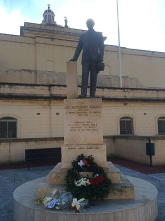 Anthony Mamo - Memorial monument found at the back of St Helen's Basilica, Birkirkara