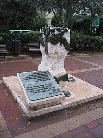 Café Apropo bombing - The memorial built at the site of the event in memory of the victims of the attack