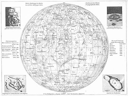 Map of the Moon from the Andrees Allgemeiner Handatlas (1881) by Richard Andree MoonMap1.jpg