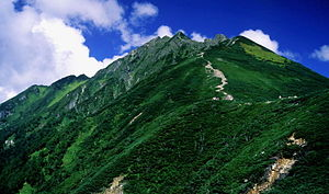 Mount Nishihotaka from Mount Maru 2001-09-05.jpg