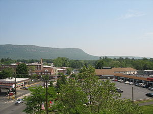 Easthampton, Massachusetts - View of Mount Tom from the center of Easthampton