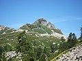 Mountain Pizzo del Corno 2280masl view from Bocchetta dei Laghetti - Santa Maria Maggiore VCO, Piedmont, Italy 2020-07-29.jpg