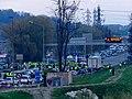 Mouvement des gilets jaunes sur la VRU de Chambéry (17 novembre) 2.JPG
