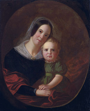 George Caleb Bingham - His first wife, Sarah, and eldest son, Newton, who died when 4 years old. (George Caleb Bingham, ca 1841)