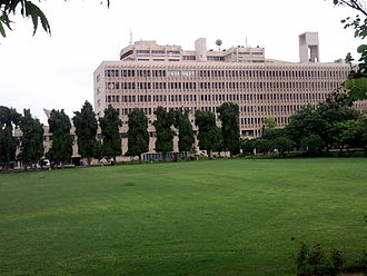 Indian Institute of Technology Delhi - Multi-Storey Building (MS) facing the front lawns