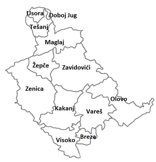 Municipalities and Cities of Zenica-Doboj Canton