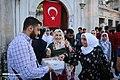 Muslims perform the Eid Al-Adha prayer at Eyup Sultan Mosque 2019-08-11 16.jpg