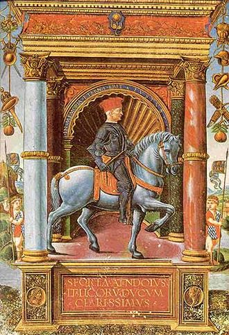 House of Sforza - A miniature of Muzio Attendolo, fifteenth century