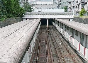 Myōgadani Station - Image: Myogadani Sta from Bridge