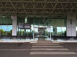 Mysore Airport - Entrance to departures area