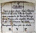 Nínxol a Guadassuar. Làpida amb rajola valenciana del segle XIX (1866).jpg