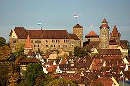 Nürnberger Burg im Herbst 2013 von Südwesten