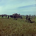 NARA 111-CCV-562-CC33153 1st Infantry Division troops, M48, and M113 advancing across open field Operation Buckskin 1966.jpg