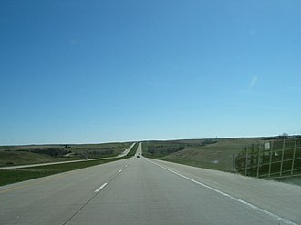 Interstate 94 - Eastbound on I-94, the main highway east–west through North Dakota