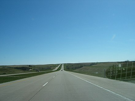 Interstate 94 in North Dakota, near Gladstone. NDI94.jpg